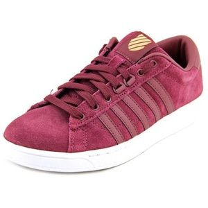 K-SWISS women's suede leather tennis shoe